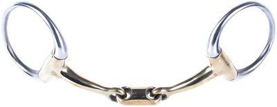 Harry's Horse Bustrens gold brass dubbelgebroken oval-link